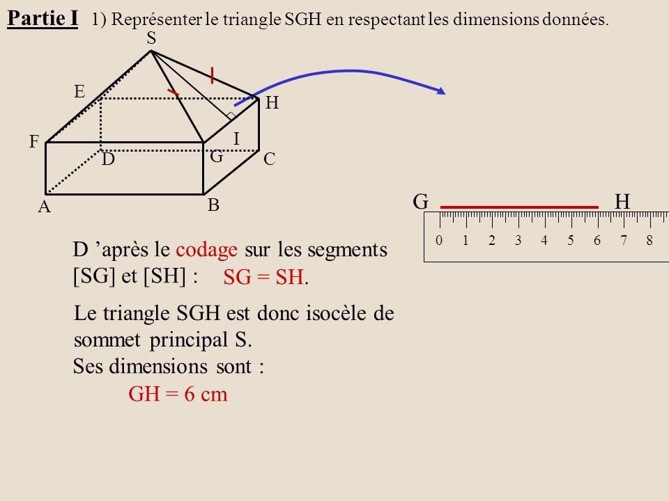 D 'après le codage sur les segments [SG] et [SH] : SG = SH.